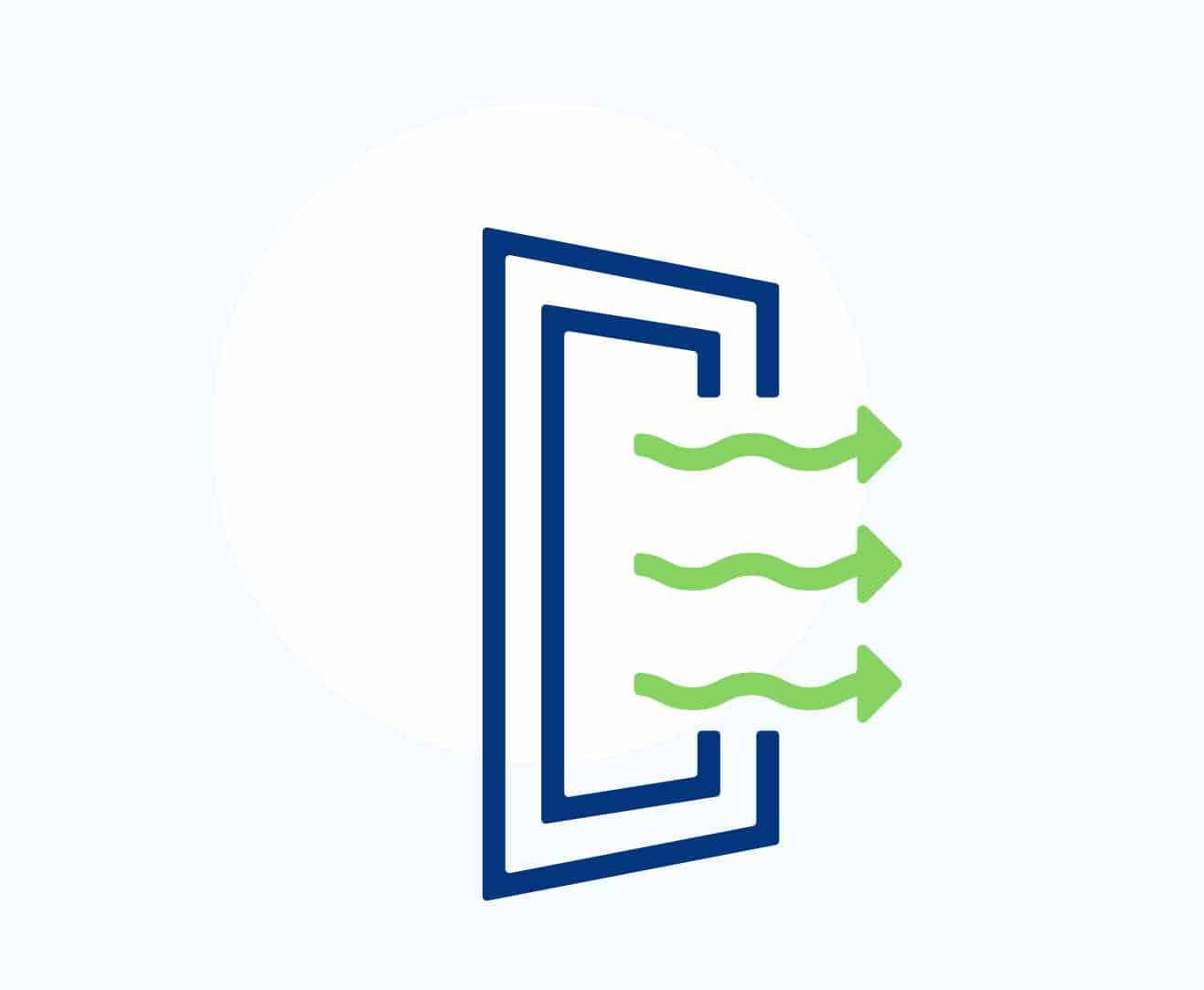 Les solutions de ventilation VTI sont adaptées aux bâtiments équipés de conduits de ventilation naturelle